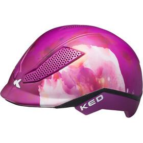 KED Pina Helmet Kids Flower Violett